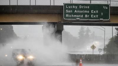 'Atmospheric river' slams Northern California, while Washington monitors 'bombogenesis' conditions
