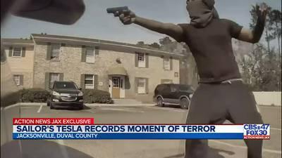 Jacksonville man's Tesla captures attempted carjacking on camera