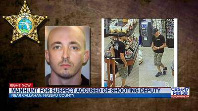Manhunt for suspect accused of shooting deputy