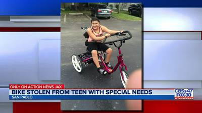 Bike modified for Jacksonville teen with special needs stolen