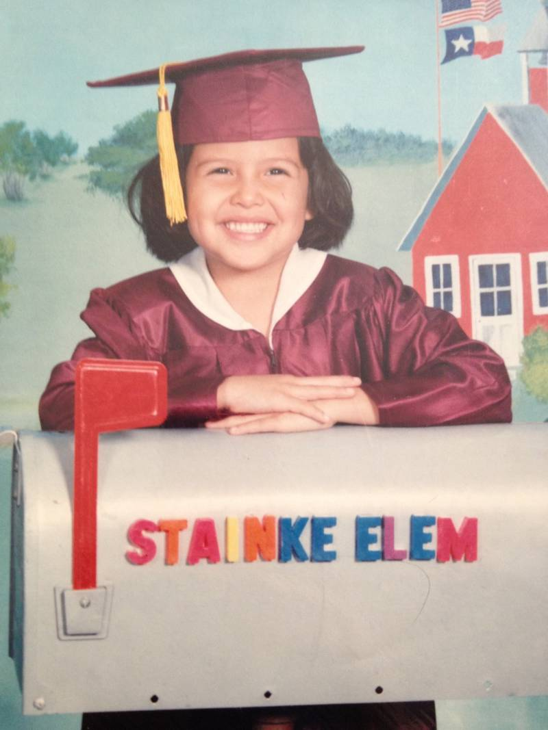 Action News Jax traffic anchor and meteorologist Marithza Ross in her kindergarten picture.