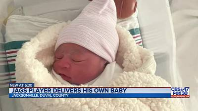 Jags player delivers his own baby