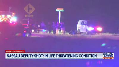 Search for suspect accused of shooting Nassau County deputy during traffic stop