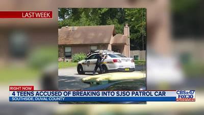 4 teens accused of breaking into SJSO patrol car