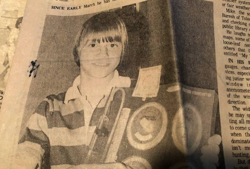 Chief Meteorologist Mike Buresh featured in the newspaper when he was a young student.