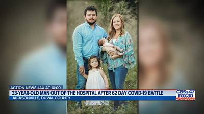 'Living 2 different lives:' Father goes home after 62-day hospital stay in Jacksonville for COVID-19