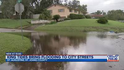 King tides bring flooding to city streets