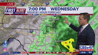 Tracking more rain Wednesday before cold front moves in