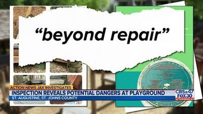 Action News Jax Investigates: Inspection report finds safety violations at local play ground could have led to 'permanent disability, loss of life or body part'