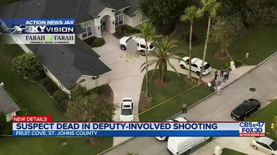 UPDATE: Man's death ruled a suicide in deputy-involved shooting in Fruit Cove