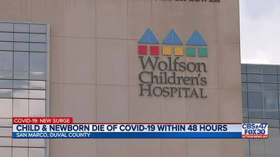 Two children at Wolfson Children's Hospital die within 48 hours of each other due to COVID-19