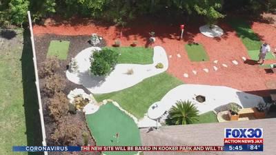 Fleming Island man builds backyard golf course