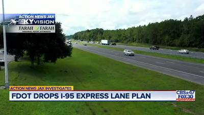 Investigates: FDOT detours away from 'flawed' express lanes on Duval, St. Johns section of I-95