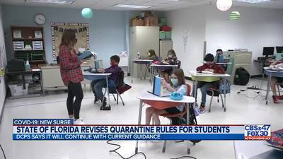 State changes school quarantine policy, gives parents the option