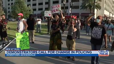 Jacksonville activists demonstrate in the wake of Chauvin guilty verdict