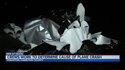 Crews working to determine cause of plane crash in Folkston